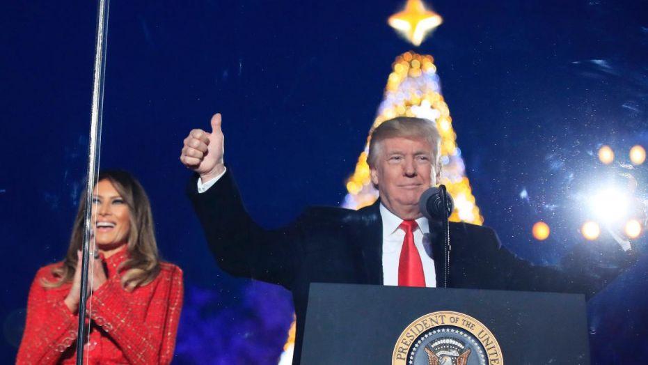 Trump thumbs up